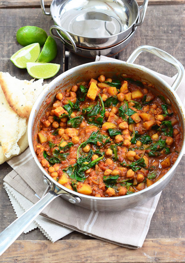 Chickpea and Spinach Curry 8