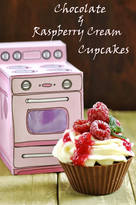 Chocolate Raspberry Cream cupcakes